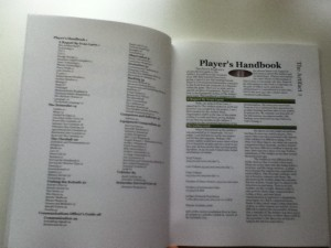 Table of Contents and First Page